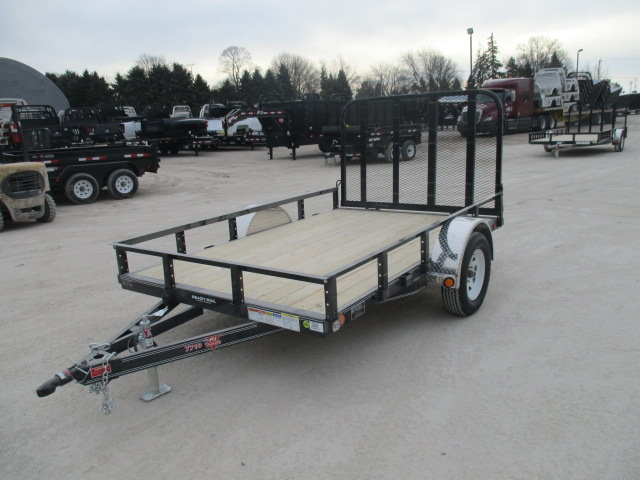 2018 PJ Trailer 77x10 U7 Single Axle Utility U721031DSGK