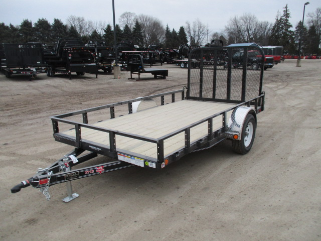 2018 PJ Trailer 77x12 U7 Single Axle Utility U721231DSFK
