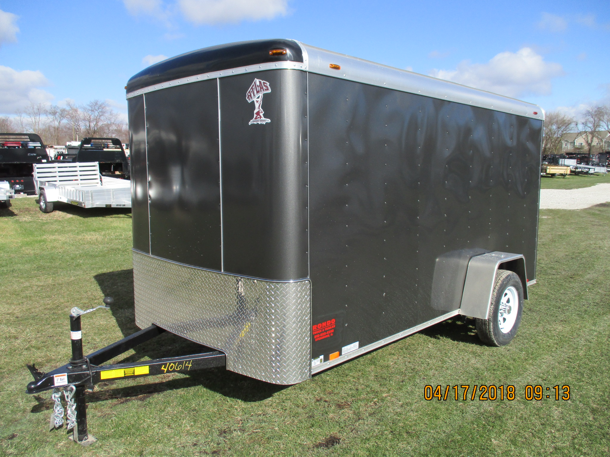 2018 Atlas 6x12  Enclosed Cargo AU612SA-R
