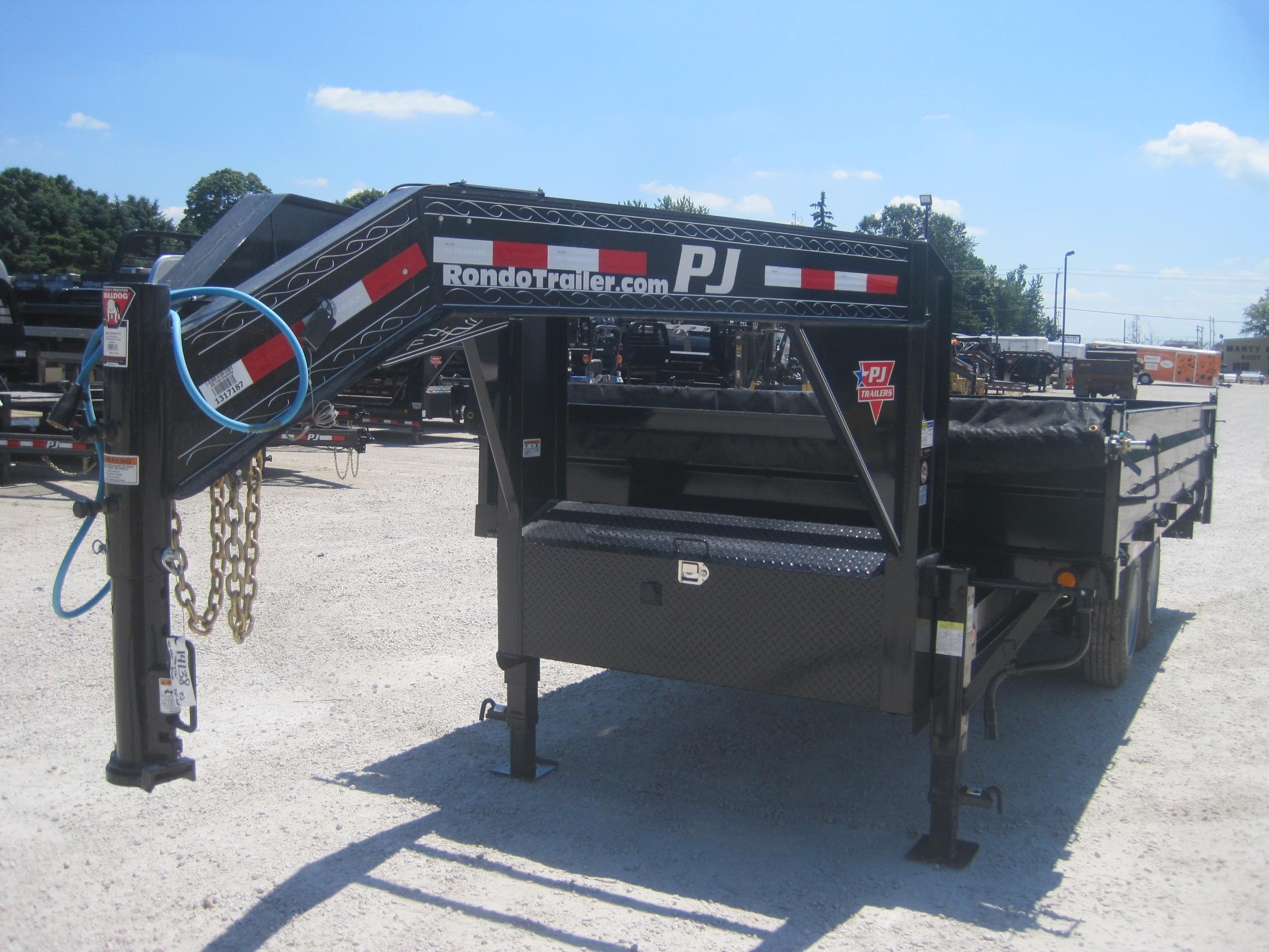 2020 PJ Trailer 96x16 D8 Gooseneck Dump D8R16K2BSSK5P