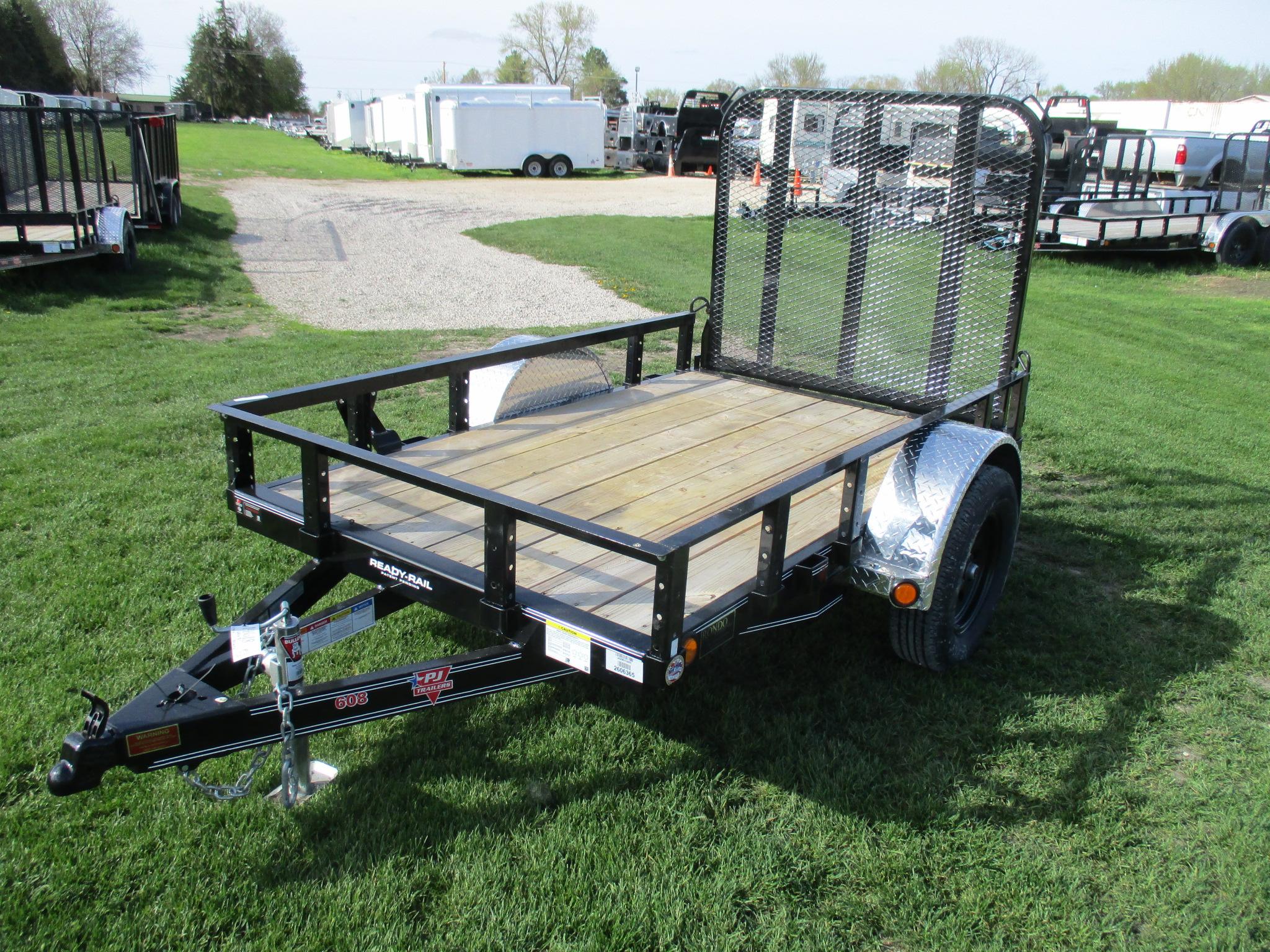 2020 PJ Trailer 60x8 U6 Single Axle Utility U620831DSFKT