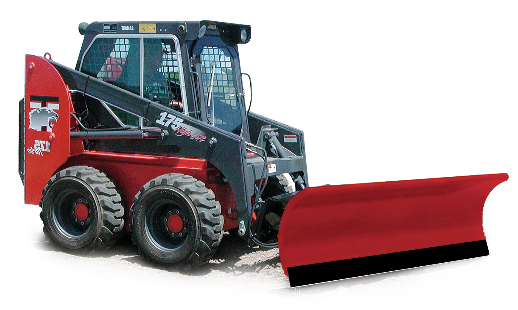 New Hiniker 8.5 Straight Conventional Steel Snowplow, Model:2285, Skid Steer