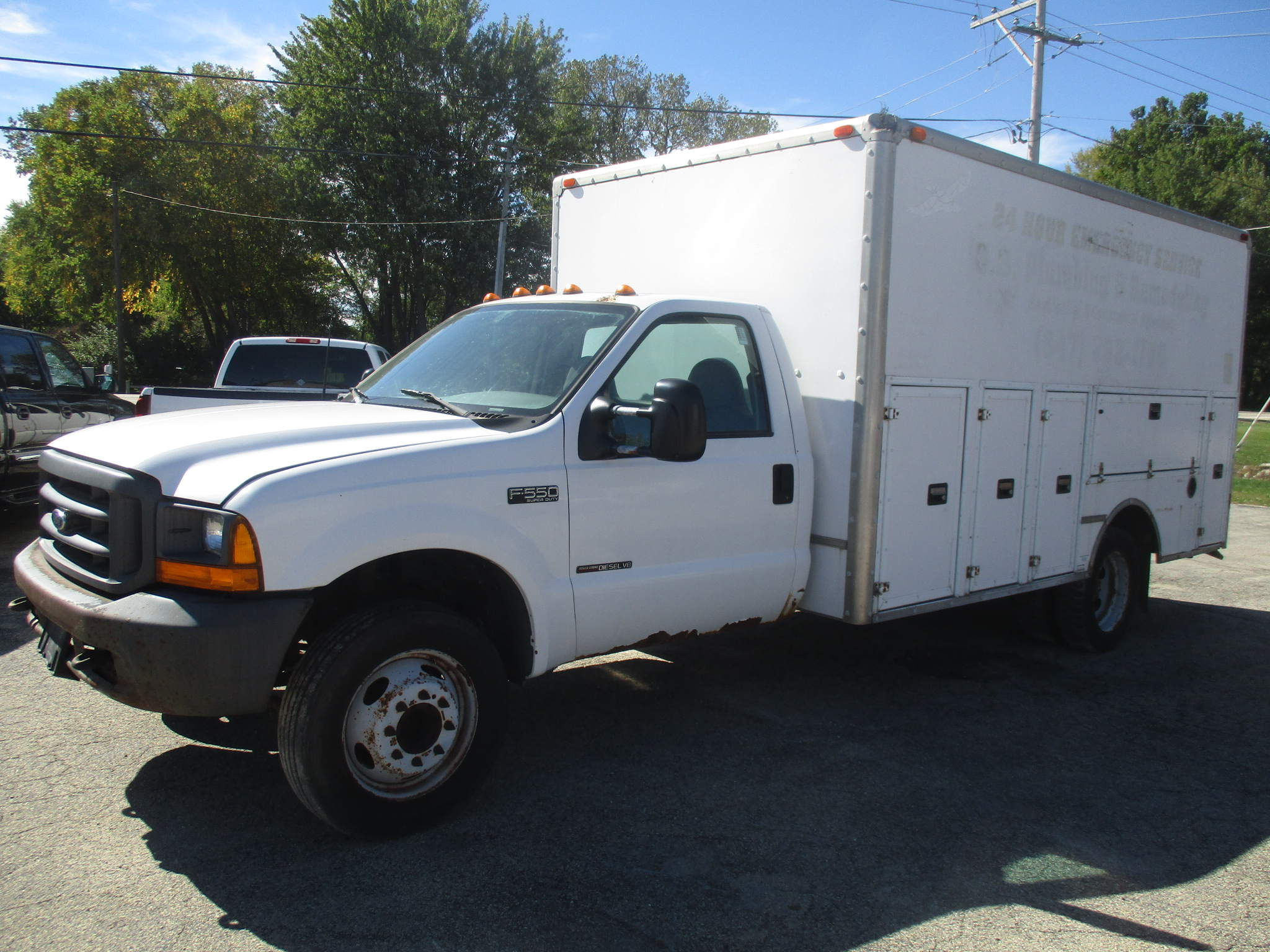 2000 Ford F550 Regular Cab Service body XL