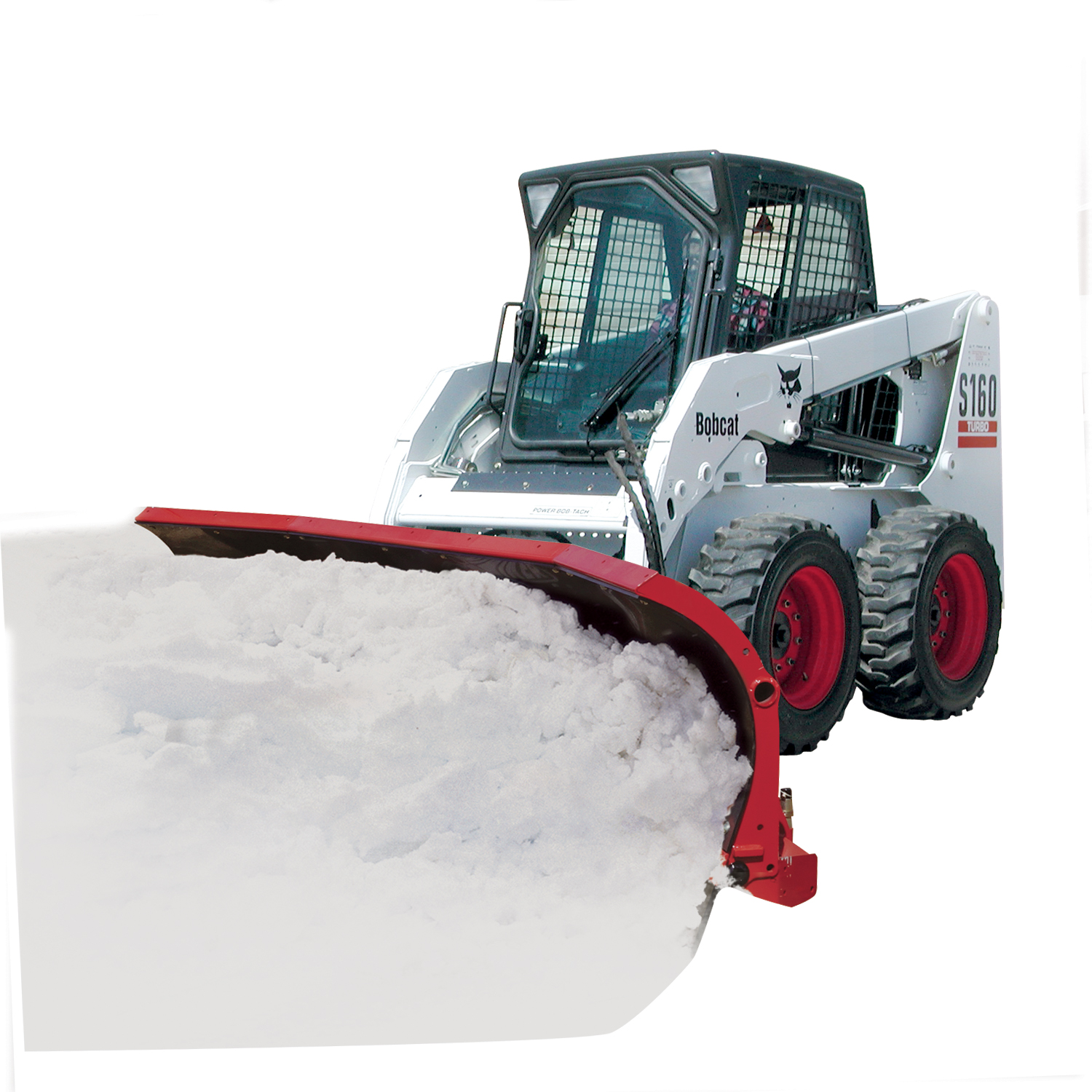 New Hiniker 8 Trip Edge with crossover relief valve Poly Snowplow, Model:2682, Skid Steer