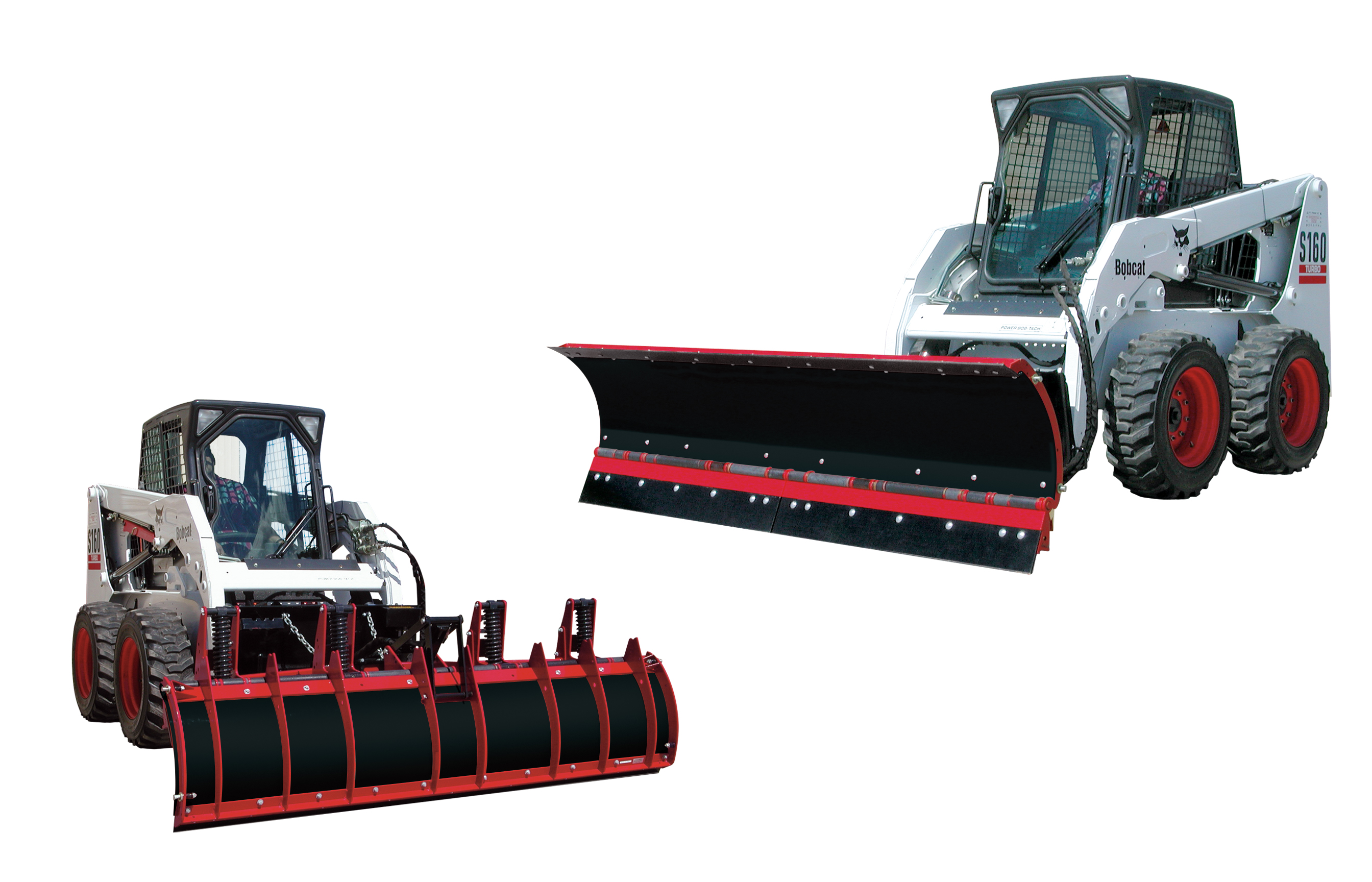 NEW Hiniker 8 C-Plow for Skid Steer with Trip Edge and crossover relief valve.