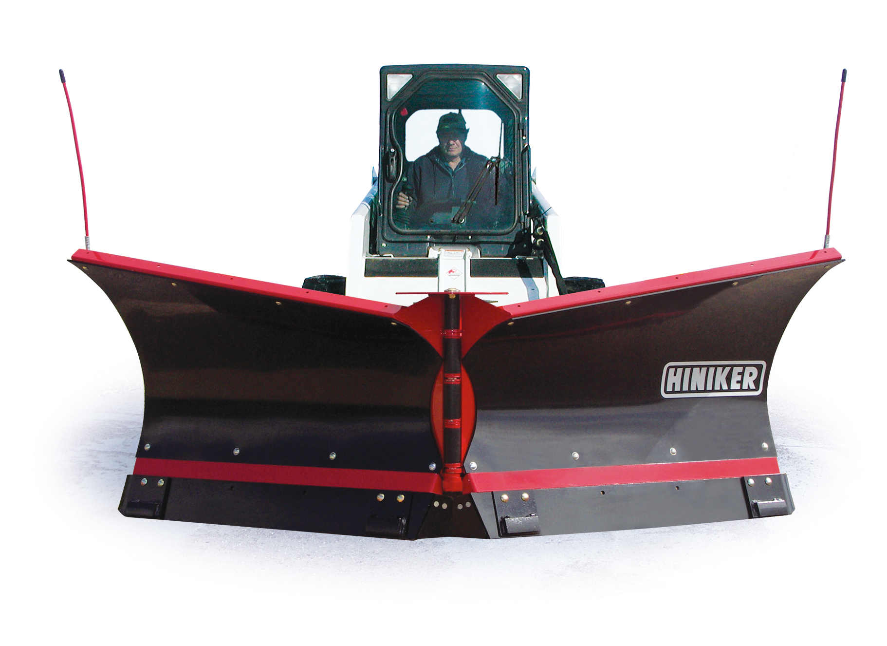 New Hiniker 9.5 V-Plow Poly for Skid Steer with Torsion Spring Trip and Flare Top.