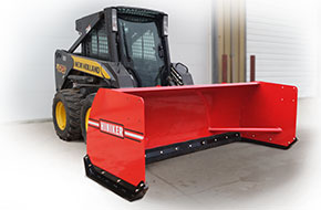 SOLD OUT New Hiniker 3608 Model, Pusher Box with Rubber Cutting Edge Steel Pusher, Skid Steer