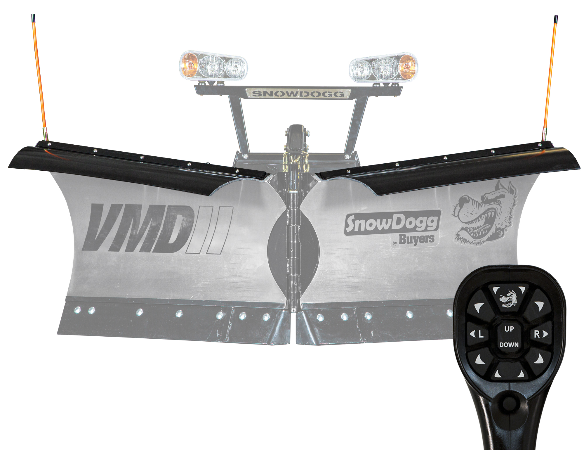 New Buyers VMD75II Model, V-plow Flare Top, Trip edge Stainless Steel V-Plow, MD