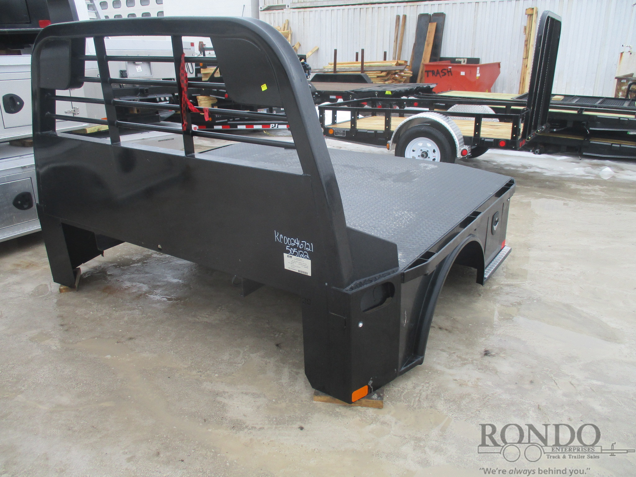 NEW CM 7' x 97 SK Flatbed Truck Bed :: Rondo Trailer