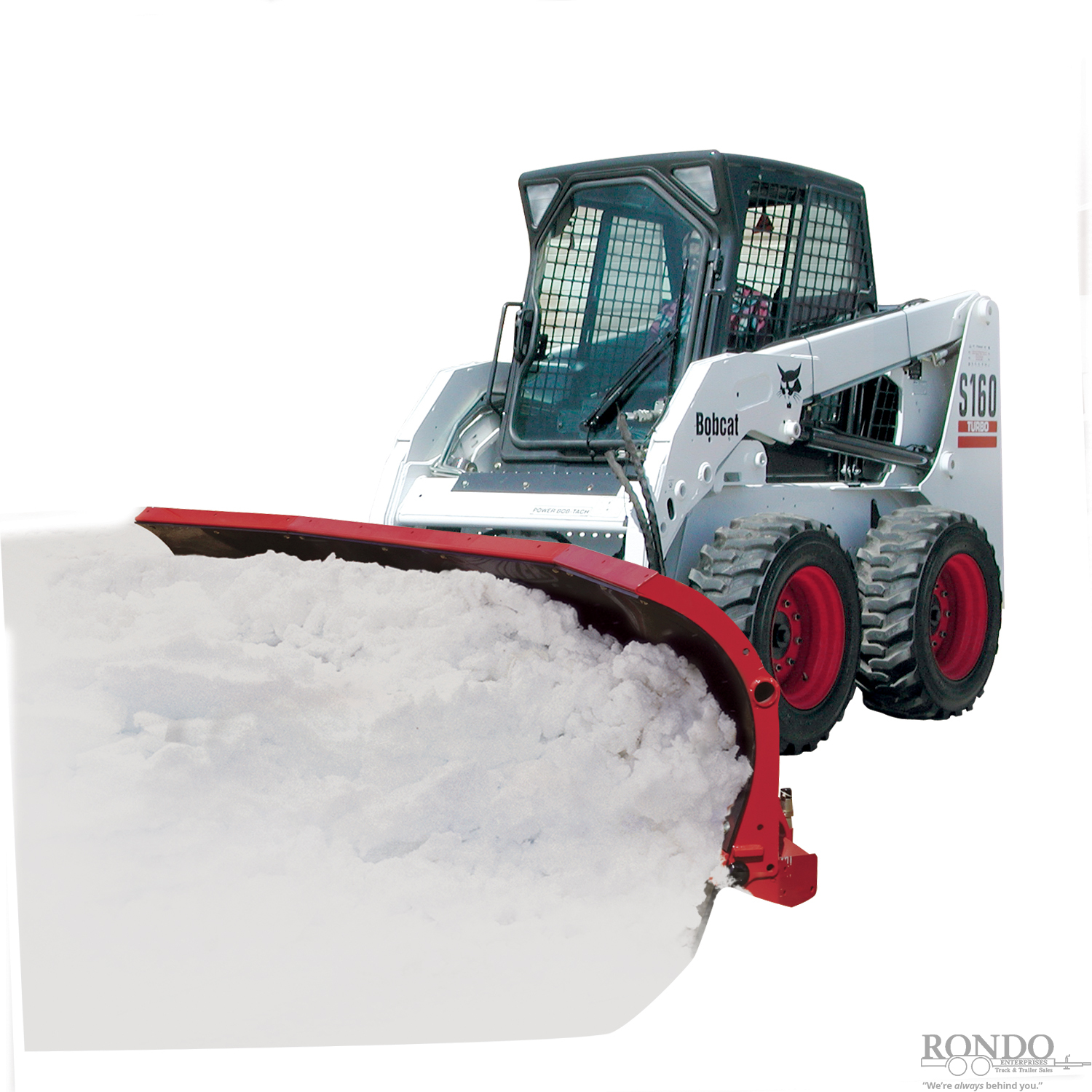 NEW Hiniker 9' Scoop Poly Plow for Skid Steer with Trip Edge